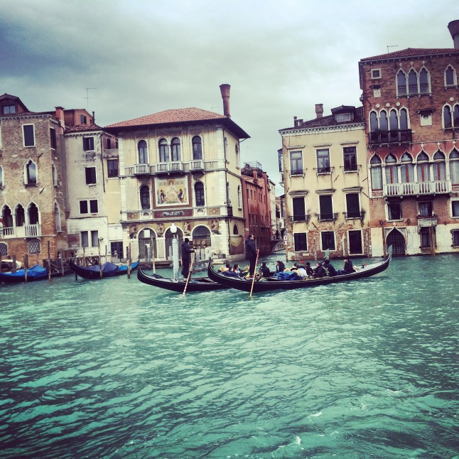 Gondola in the Grand Canal, Venice