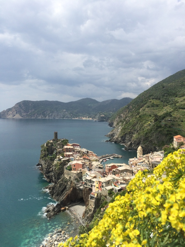 Hiking into Vernazza, Italy