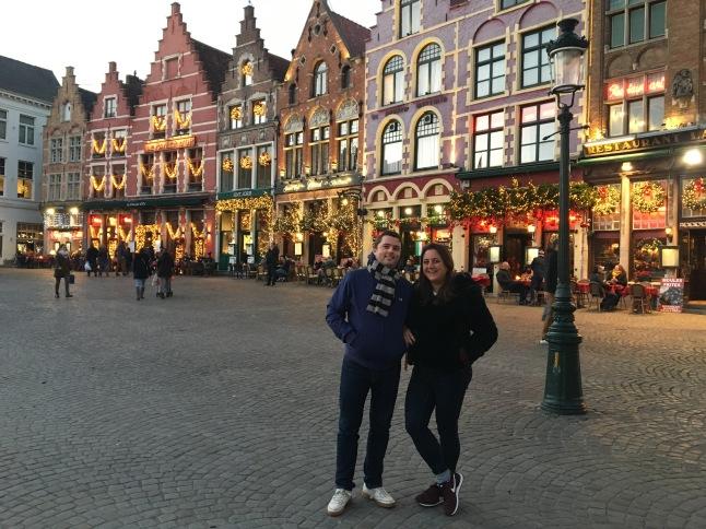 Bruges Christmas Markets at dusk
