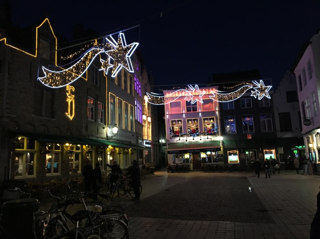 Christmas lights in Bruges