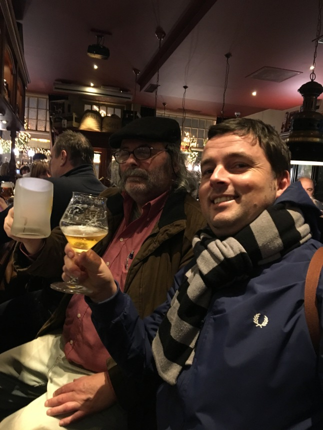 Talking beer at Cambrinus, Bruges