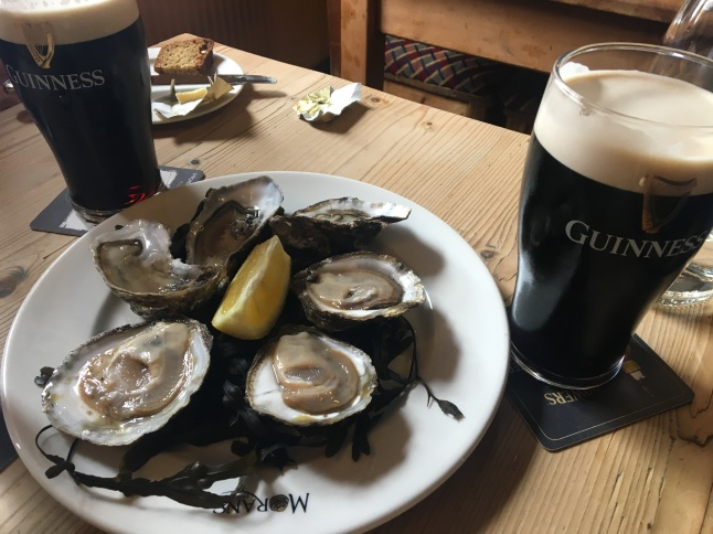 Oysters and Guinness, Moran's Oyster Cottage