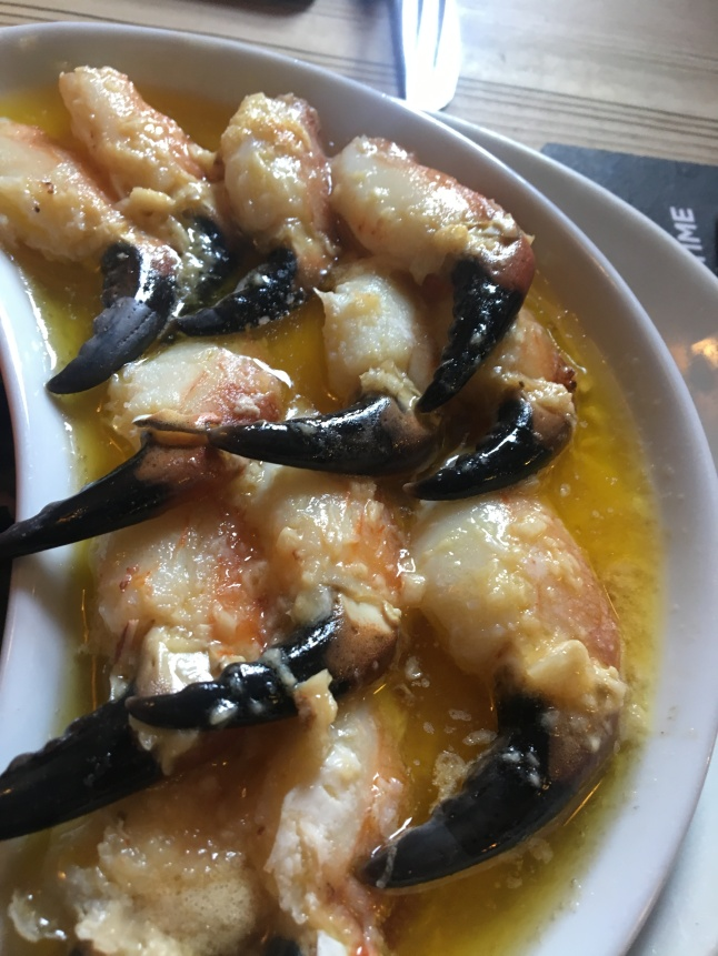 Garlic Crab Claws, Moran's Oyster Cottage
