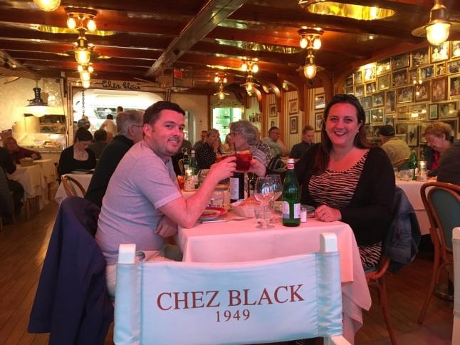 Dinner at Chez Black, Positano