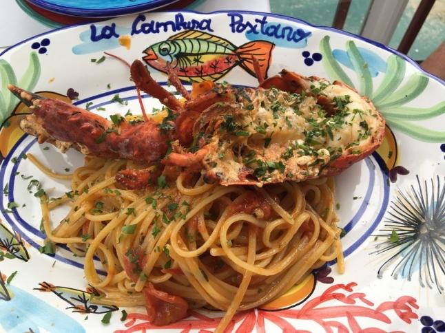 Lobster at La Cambusa, Positano