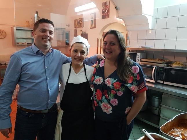 Family pics at La Tagliata