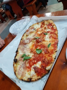 Pizza from Da Franco's in Sorrento