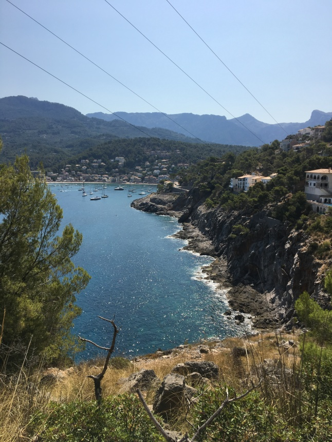 Mountain view of Port de Soller, Majorca