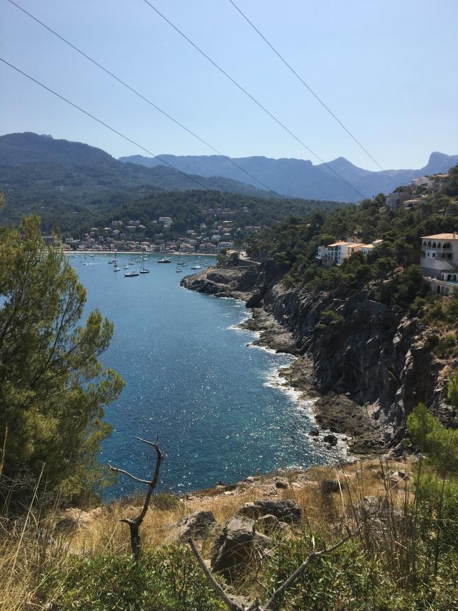 Mountain view of Port de Soller, Majorca