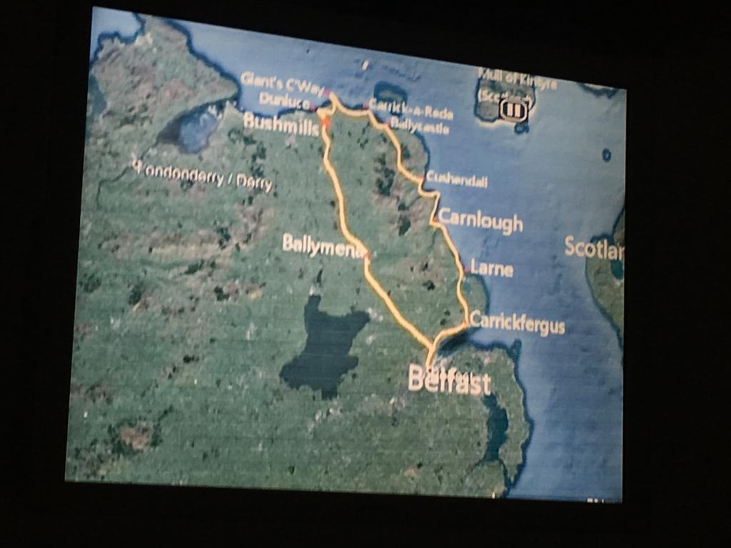 Giant's Causeway Tour Route