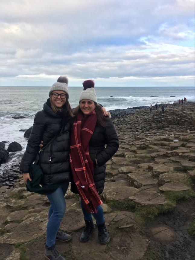 Lisa & Hannah at Giant's Causeway