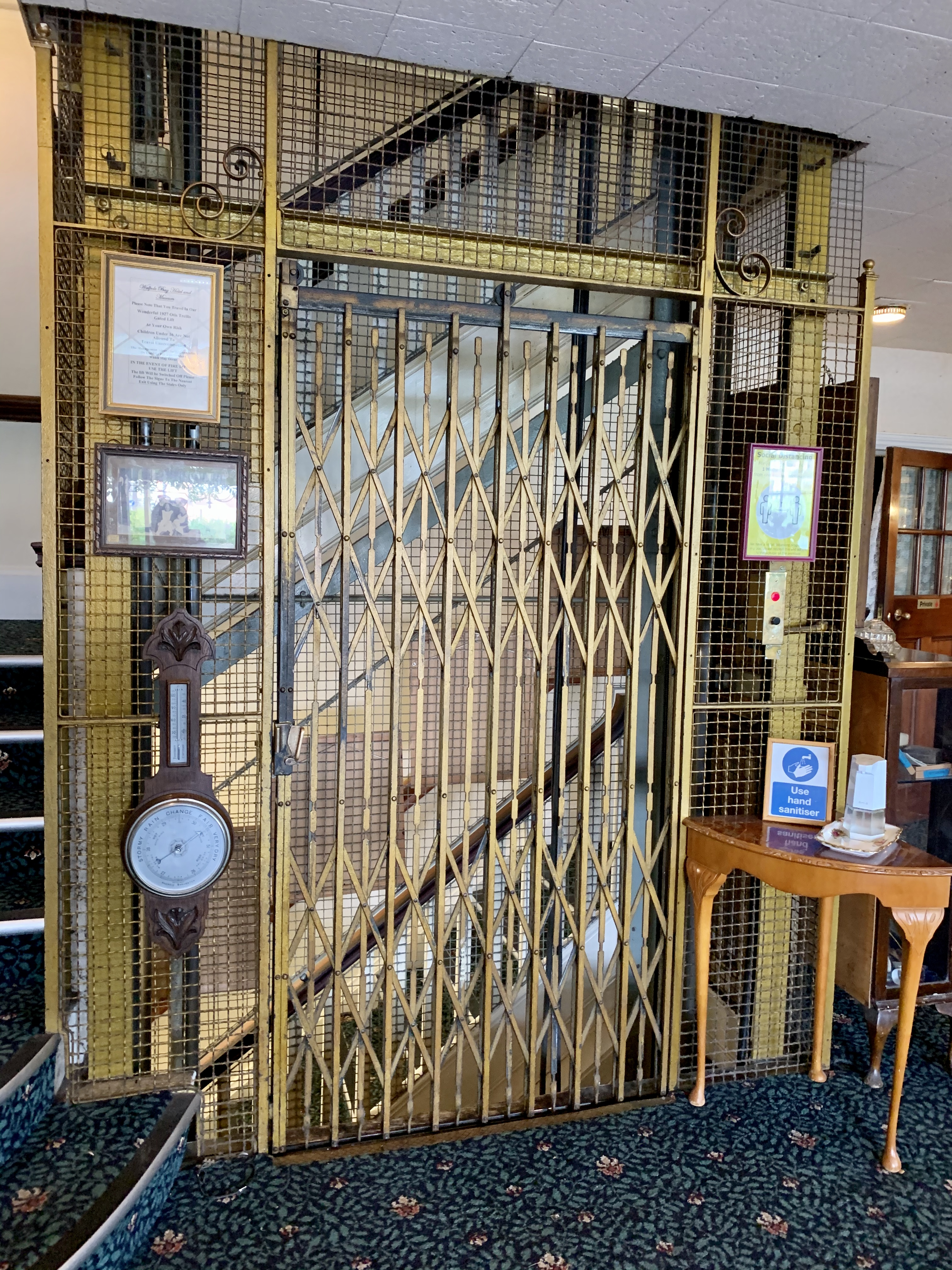 1927 Otis Trellis lift, Walpole Bay Hotel